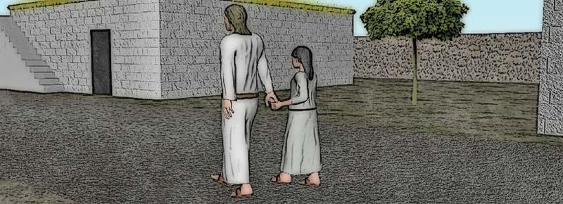 Jesús y la niña Dina