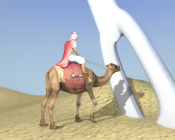 Camello pasar aguja rico